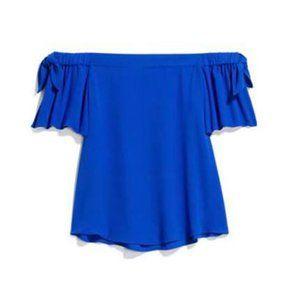 Stitch Fix Off The Shoulder Top MEDIUM Cobalt Blue
